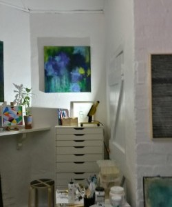 Corner of my studio at The Barn