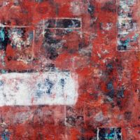 Cecchin Urban patina (#2) 2014 Acrylic mixed media on canvas 76x61x4cms (Private collection)