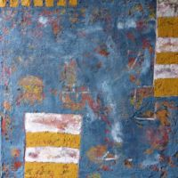 Cecchin Urban patina (#20) 2014 Acrylic mixed media on canvas 76x76x4cms
